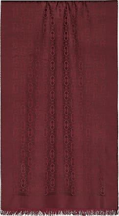 Salvatore Ferragamo Uomo Sciarpa Logo Gancini Rosso