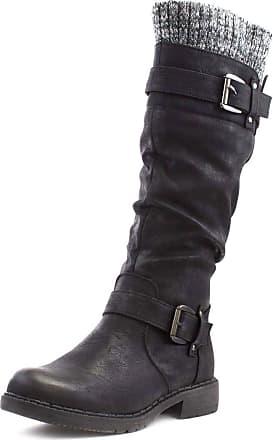 Lotus Fontura Womens Black Knee High Boot - Size 4 UK - Black