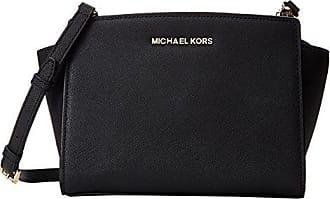 1eef3cfa3b3a Michael Kors Md Messenger, sac bandoulière femme - Noir - Noir, 23x17x11 cm  (