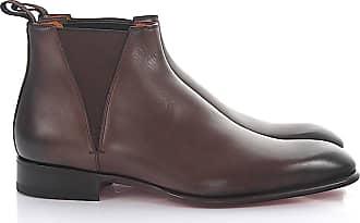 Santoni Chelsea Boots calfskin Finished brown