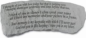Kay Berry Outdoor Kay Berry I Thought Of You Memorial Bench - 27 in. Cast Stone - 35620