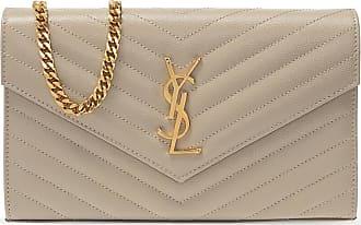 Saint Laurent Envelope Shoulder Bag Womens Beige