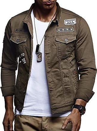 LEIF NELSON Herren Jeansjacke Basic Stretch Jeans Jacke mit Stehkragen /Übergangsjacke Hoodie Sweatjacke Freizeitjacke