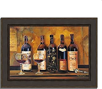 Tangletown Fine Art Cellar Reds by Marilyn Hageman Framed Art, Brown/Maroon