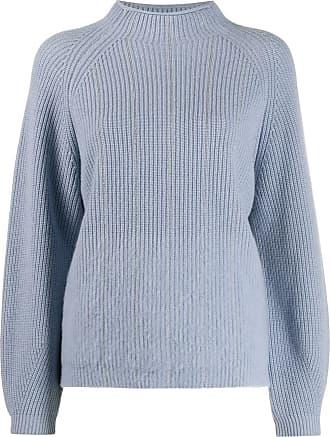 PESERICO Suéter gola alta ampla com detalhe de corrente - Azul