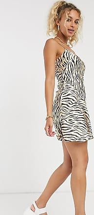 Collusion printed mini slip dress in tiger print-Multi