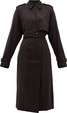 The Row Triana Belted Brushed-twill Trench Coat - Womens - Black