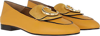 Chloé Loafers & Slippers - C Loafers Leather Mimosa Yellow - orange - Loafers & Slippers for ladies