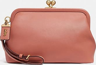 Coach Kisslock Clutch in Pink