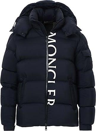 Moncler Maures Logo Down Jacket Navy