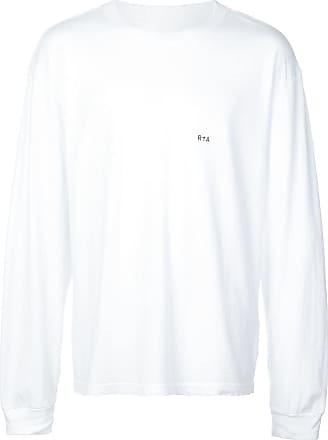 Rta Camiseta mangas longas com estampa de logo - Branco