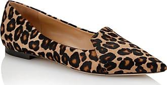 Tamara Mellon Grace Leopard Haircalf Flats, Size - 39.5