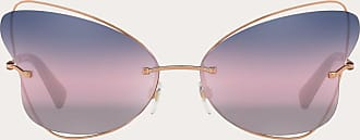 Valentino Valentino Occhiali Occhiale Da Sole Butterfly Rimless In Metallo Donna Rosa 100% Fibra Metallizzata OneSize