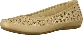 Easy Street Womens Benny Ballet Flat, Sand, 5.5 M US