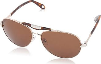 Givenchy Womens SGVA13-678 Aviator Sunglasses,Red, Gold,59 mm