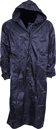 Universal Textiles Mens Waterproof Rain Jacket With Hood, XXL Chest: 46-52inch, Navy