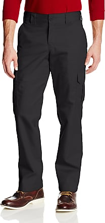 Dickies Mens Slim-Straight Stretch-Twill Cargo Pant - Black - 32W x 32L