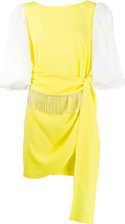 Gina draped embellished mini dress - Yellow