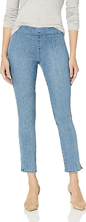 NYDJ Womens Pull ON Skinny Ankle Jean with Side Slit, Aquino, 6 27
