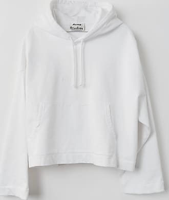 Acne Studios Joghy Emboss Optic White Embossed-logo hooded sweatshirt