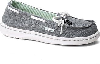 Hey Dude Dude Moka Classic Grey Canvas Deck Shoe UK4 / EU37