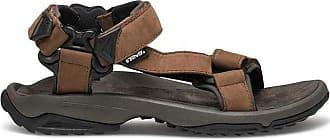 Teva Mens M Terra Fi Lite Leather Sports Sandals, Black (Brown 000), 11.5 UK