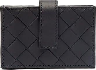 Bottega Veneta Intrecciato-woven Leather Cardholder - Mens - Black