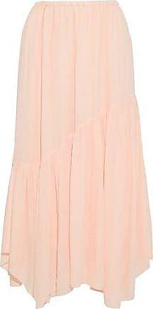 Joie Joie Woman Hiwalani B Gathered Georgette Midi Skirt Pastel Pink Size XXS
