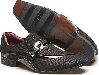 Calvest Sapato Social Masculino Calvest em Couro com Textura Tear - 1930D425-Preto-45