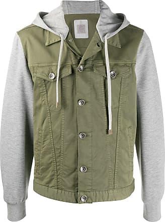 Eleventy hooded denim jacket - Green