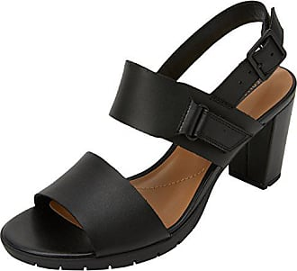 7041a063fa4c Clarks Damen Kurtley Shine Slingback Sandalen, Schwarz (Black Leather), 40  EU