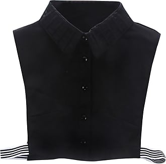 QUINTRA Women New Blouse False Collar Clothes Shirt Detachable Collars (Black 0200)