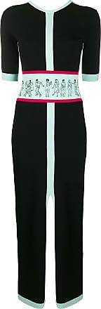 Kirin Vestido slim color block - Preto