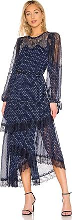 Bcbgmaxazria Lace Tiered Dress in Navy