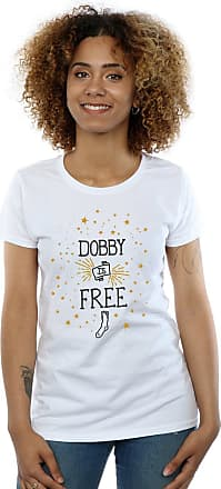 Harry Potter Womens Dobby is Free T-Shirt Small White