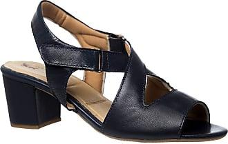 Doctor Shoes Antistaffa Sandália Feminina 284 em Couro Azul Marinho Doctor Shoes-Azul Marinho-38