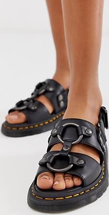 5a55c620334 Dr. Martens Xabier - Svarta sandaler i läder - Black brando