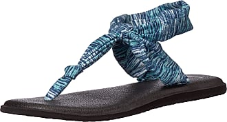 Sanuk Womens Yoga Sling Ella Prints Flip-Flop, Navy Space Dye, 3 UK