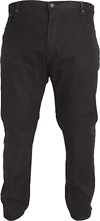 Duke London Duke Mens Rockford Carlos Kingsize Stretch Jeans (46S) (Black)
