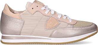 Philippe Model Low-Top Sneakers TROPEZ calfskin suede textile Logo Patch beige brown