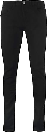 Firetrap Mens Blackseal XL Frontier Jeans Tapered Pants Trousers Bottoms Black 50 R