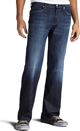 7 For All Mankind Mens Austyn Relaxed Fit Straight Leg Pant Jeans, Los Angeles Dark, 33W x 34L