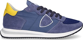 Philippe Model Low-Top Sneakers TRPX calfskin textile Logo Patch blue-combo