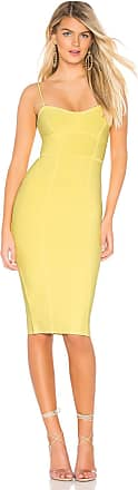 Bcbgmaxazria Midi Bodycon Dress in Yellow