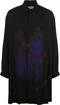 Yohji Yamamoto oversized figure print shirt - Black