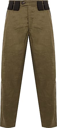 Ziggy Chen contrast belt loops cropped trousers - Brown