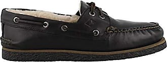 Sperry Top-Sider Mens A/O 2-Eye Winter Boat Shoe, Black, 9 M US