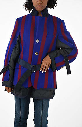 sacai Quilted and Striped Jacket Größe 2