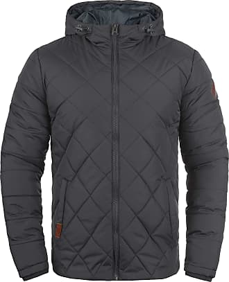 Blend Blend Mens Divior Between-Seasons Quilted Jacket with Hood, Windproof and High-Quality Material - Grey - 0-3 Months