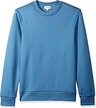 6f19b31cb004 Lacoste Mens Long Sleeve Crew Neck Melton Grate Sweatshirt